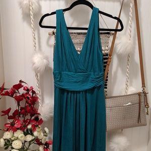 Loft Teal Green Sleeveless Dress NWOT